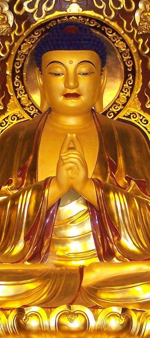 Buddha meditierend 1