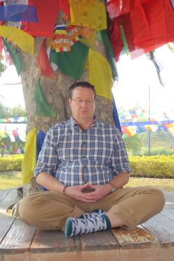 Meditation in Lumbini