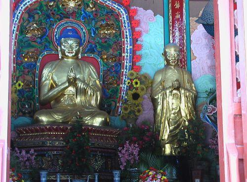 Buddha und Arahat, China